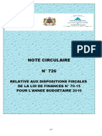 Note Circulaire 726 2016