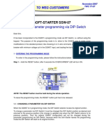 Weg SSW-07 Program via Dip Switch