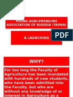 Young Agri-preneurs Association of Nigeria (Yapan)