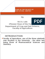 A History of the Faculty Of Agriculture, University of Port Harcourt