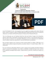 2014-12-15 Firma Convenio de Colaboración Municipio y Fonacot