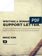 Writing a Winning Support Letter - Mike Kim