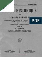 Revue Historique du Sud-Est Européen, 04 (1927), 2