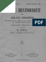 Revue Historique du Sud-Est Européen, 04 (1927), 3