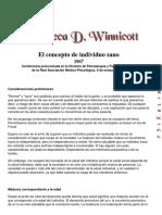 El concepto del individuo sano - Donald Winnicott