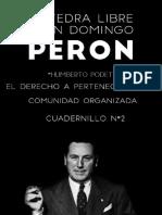 """Cátedra libre """"Juan Domingo Peron"""" Cuadernillo Nro 2"""