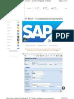 TX Importantes en SAP