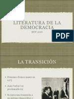 La literatura de la democracia