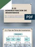 Unidad III Administracion de Inventarios