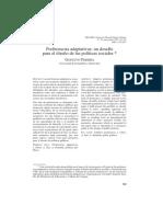 Preferencias Adaptativas Un Desafío Para El Diseño de Las Políticas Sociales