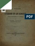 La Verité Sur l'Albanie Et Les Albanais, Wassa Effendi, 1879