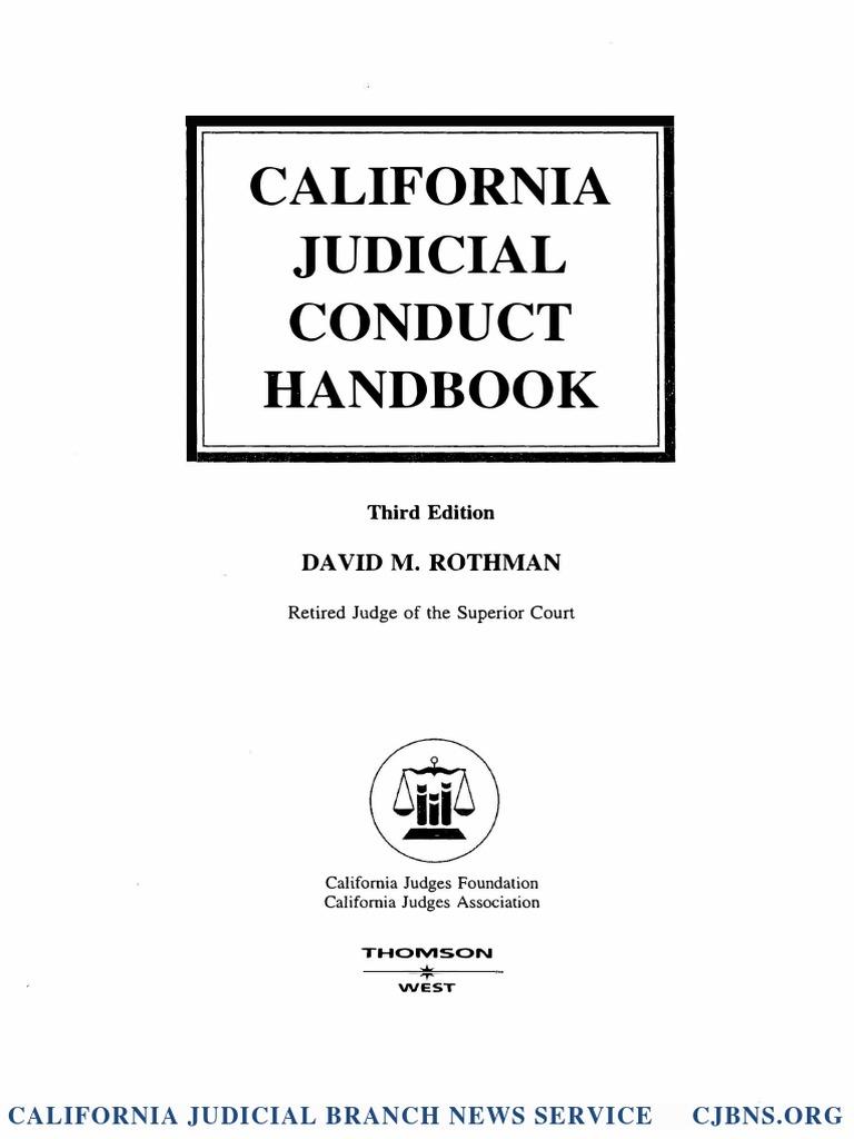 California Judicial Conduct Handbook Excerpt: David M