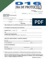 Modelo Apertura de Protocolo 2016