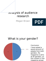 Analysis of Audience Research