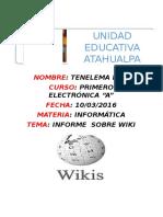 Trabajo de Informatica de Wikis
