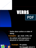 VERBS Action, Linking, Helping, Transitive, Intransitive