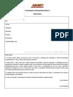 Portfolio de Atividades Complementares Logística IV Semestre Unip