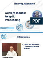 Current Issues in Aseptic Processing