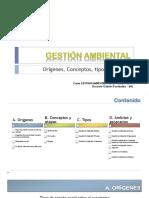 Presentación 3. Gestion Ambiental Origenes Conceptos_Curso GA_2016I