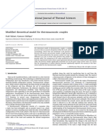 Babaei Modified Theoretical Model for Thermoacoustic Couples