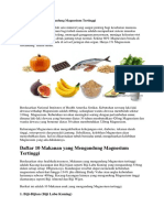Makanan Dengan Magnesium Dan Asam Float