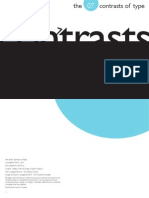The Seven Contrasts of Type - Graphic Design - Daniel Francavilla OCAD