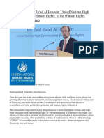 Statement by Zeid Ra'Ad Al Hussein, United Nations High Commissioner for Human Rights, To the Human Rights Council's 31st Session