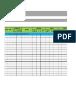 Formato de Tabla de Costos y Presupuestos