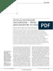 Genetica Del Metabolismo Secundario en Hongos