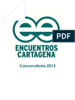 Convocatoria Encuentros Cartagena 2015