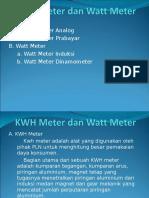KWH Meter Dan Watt Meter