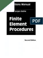 Finite Element Procedures 2ed-Solutions Manual (KJB)