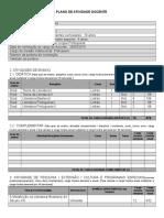 Plano de Atividade Docente - Alessandra Cristina Valério