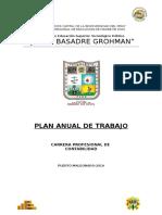 Plan Anual de Trabajo de Contabilidad 2016
