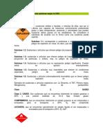 Clasificación de Sustancias Químicas Según La ONU