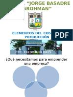 Elementos Del Costo de Produccion