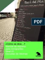 Cómo se dice . Manual español.