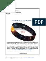 Efemérides astronómicas 2016