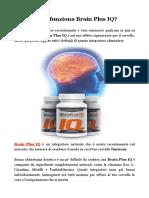 Come funziona Brain Plus IQ?