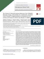 Antenatal Vitamin D to Reduce Asthma in Children