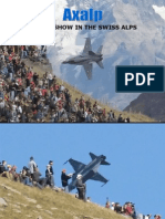 Air Show in the Alps