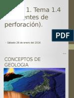Ambientes  sedimentarios y de la perforación.