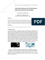 REVIEW OVER HOLE HEALING TECHNIQUES IN WIRELESS SENSOR NETWORKS