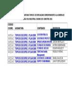 TÓPICOS DE ESPECIALIZACIÓN ICI 1-2016