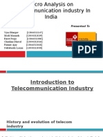 Micro Analysis on Telecommunication Industry in India