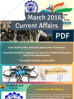 Current Affair 11 March 2016 for Competition Exams