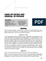 Hand Splinting and General Aftercare