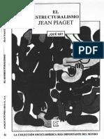 Piaget Jean - El Estructuralismo