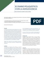 Síndrome de Ovario Poliquístico, Diagnóstico en La Adolescencia