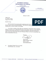 Rice Letter Re Charges Against Noether